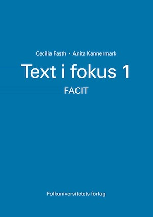 Text i fokus: 1. : Facit.